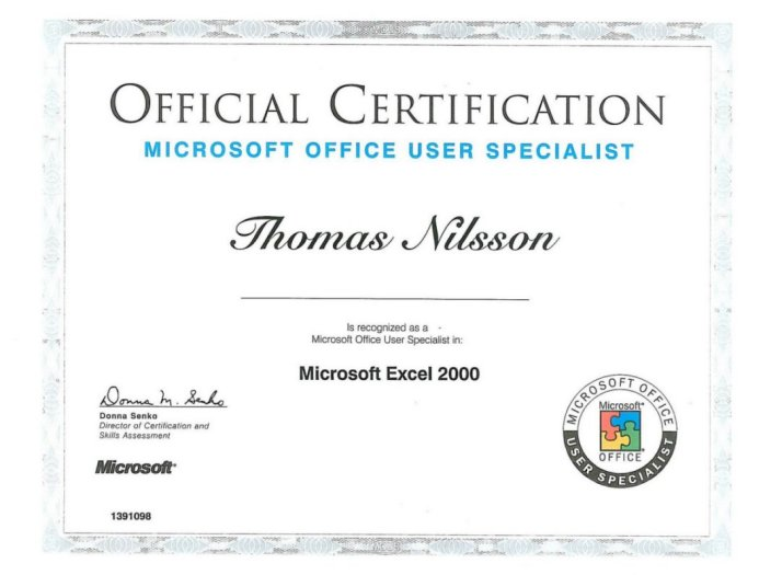 Microsoft Office User Specialist